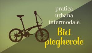 grafica guida ciclisti bici pieghevole